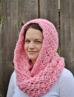 The Sequin Turtle: Free Crochet Hooded Infinity Scarf Pattern