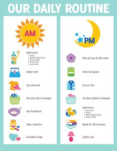 A5 Print - ChildrenS Daily Routine Reward Chart Includes Smiley Face Stickers #ebay #Home & Garden