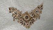 Victorian Edwardian Embroidery Dress  Applique Gold Metallic Pink Thread