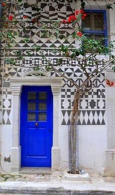 Pyrgi Village in Chios Island, Greece