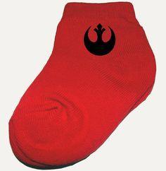 Rebel Alliance Star Wars baby socks.