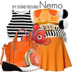 Nemo by leslieakay on Polyvore featuring T By Alexander Wang, Chicwish, Charlotte Russe, Dasein, Kate Spade, Antica Murrina, maurices, River Island, disney and disneybound