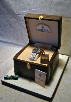 rolex cake, watch cake, torta orologio, torta fashion