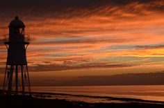 Sunset Black Nore Lighthouse by Ian Wilcox, via 500px