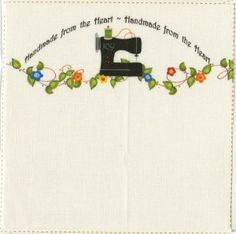 Sewing Machine Quilt Label.  Leave a note for your loved one on the back of the quilt that you are gifting.