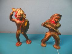 Barclay Manoil Vtg Indian Chief Warrior Geronimo Cowboy Podfoot Lead 2PCD5 | eBay