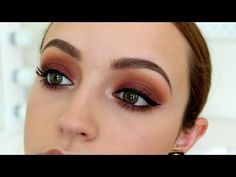 Stunning 'Sunset Bitten Eyes' Makeup Tutorial by Kathleen Lights Featuring Makeup Geek's Bitten eyeshadow along with Peach Smoothie, Cocoa Bear, Burlesque, Chickadee, Vanilla Bean, White Lies, and Shimma Shimma eyeshadows. Click to watch how she creates this gorgeous warm look!