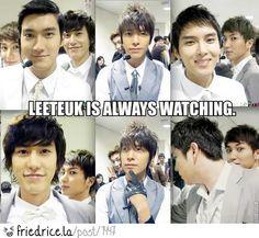 Leeteuk Is Always Watching LOL!