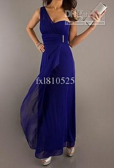 Wholesale Bridesmaid Dress -  One Shoulder Sexy Sweetheart Long Evening Dresses Pegant Dresses Celebrity Dresses, $85.0 | DHgate