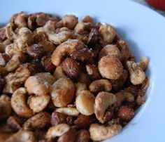 Sweet and Spicy Mixed Nuts » The Daily Dish - 17 mg of sodium per serving.