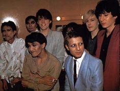 Backstage with Yellow Magic Orchestra (Japan ElectroPop band) and David Sylvan (Japan)16/10/80