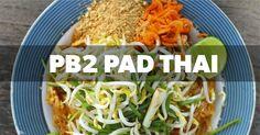 Recipe of the Day: A Healthier Pad Thai - Eat Fit Fuel Pb2 Recipes, Asian Recipes, Cooking Recipes, Healthy Recipes, Ethnic Recipes, Healthy Dinners, Free Recipes, Asian Foods, Skinny Recipes