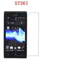 3 PCS HD phone film PE touch preserving eyesight for Sony ST26I Xperia J screen protector +Wipe wipes