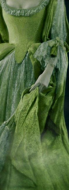 18th Century fashion, Spring Green