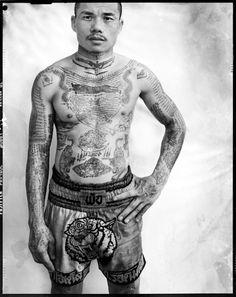 Thai Yantra tattoos, photo by Cedric Arnold