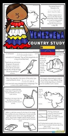 Kids will love learning about Venezuela for Kids with these Free Venezuela Mini Books. These worksheets to color, learn and read are filled with Venezuelan facts and information for kindergarten, first grade, 2nd grade, 3rd grade, 4th grade, 5th grade, and 6th grade students. Preschool Learning Activities, Hands On Activities, Educational Activities, Fun Learning, Teaching Kids, Japan For Kids, Germany For Kids, Mini Books, Felt Books
