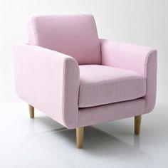 en gris clair Le fauteuil Jimi. Coloris pastels et accueil très moelleux La redoute