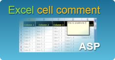 Excel cell comment in ASP classic by EasyXLS component! XLSX, XLSM, XLSB, XLS files in ASP classic. #EasyXLS #Export #Excel #Cell #Comment #ASP 3 D, Coding, Tutorials, Classic, Windows, Derby, Classic Books, Programming, Ramen