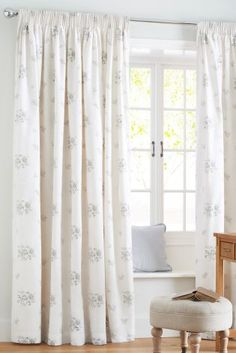 Buy English Rose Pencil Pleat Curtains from the Next UK online shop