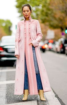 From blush to bubblegum, here's how to wear pink according to 26 street-style stars. From blush to bubblegum, here's how to wear pink according to 26 street-style stars. Star Fashion, Fashion Outfits, Paris Fashion, Fashion Fashion, Street Fashion, Fashion Online, Merian, Street Style Trends, Abaya Fashion