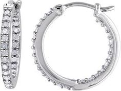 Amour 1/2 Ct Diamond Hoop Earrings.