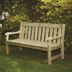 Home Etc Mangart 3 Seater Wooden Park Bench
