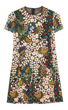 // VALENTINO Multi Macrame Bouquet Dress