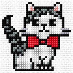 Small Cross Stitch, Cross Stitch Cards, Cross Stitch Baby, Cross Stitch Animals, Cross Stitch Designs, Cross Stitch Patterns, Quilt Patterns, Cat Cross Stitches, Cross Stitching