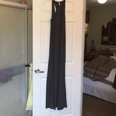 """Charcoal Maxi Dress Jersey knit maxi, razorback, new without tags, never worn because it was too long for me (5'7""""), 63% polyester/32%rayon/5% spandex Zsupply Dresses Maxi"""