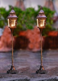 Amazon.com - 2 Pack Candle Lantern - Floor Standing Metal Candle Lantern with Pedestal Base Product SKU: CL221897 - Candle Lamps
