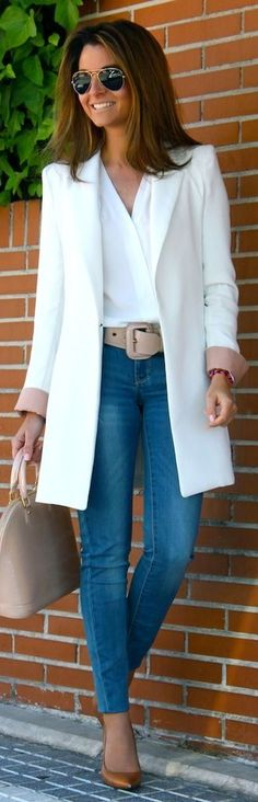 A white shirt...always a white shirt as nothing looks better with jeans!