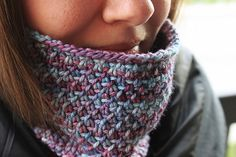 "Cobbled Cowl by Annie Riley. malabrigo Rios in Lotus colorway.""Color of the Year"""