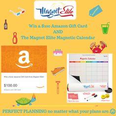 2/19. Win $100 Amazon Gift Card & The Magnet Elite Magnetic Fridge Calendar