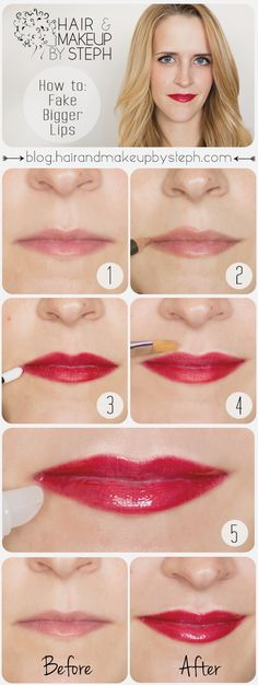 Hair and Make-up by Steph: How to Fake Bigger Lips