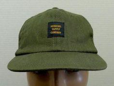 Herschel Supply Company Hat Cap Low Profile Adjustable Strap Dark Khaki Cotton | eBay