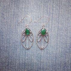 Vintage Jade Earrings by MarleeCWatts on Etsy