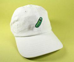 01d83eb44f7 Old Man Pickle Baseball Hat Dad Hat Low Profile White Pink Black Khaki  Green Embroidered Unisex Adjustable Strap Back Baseball Cap Rick