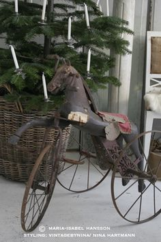 love it. Vintage riding toy How cool is this!  The only thing missing from this picture is a teddy bear.  : 0 )