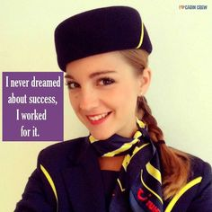 Are you still dreaming? Or are you working for it? Photo by Lara of Thomson Airways back before they changed their uniform. #iheartcabincrew #flightattendant #cabincrew #crewlife #crewfie by iheartcabincrew