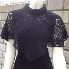100% Cashmere - hand knitted cape in lace pattern - pinned by pin4etsy.com
