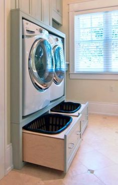 Browse laundry room ideas and decor inspiration. Discover designs for custom laundry rooms and closets, including utility room organization. Laundry Room Remodel, Laundry In Bathroom, Laundry Rooms, Small Laundry, Bathroom No Window, Small Bathroom, Laundry Closet, Laundry Room Organization, Laundry Room Design