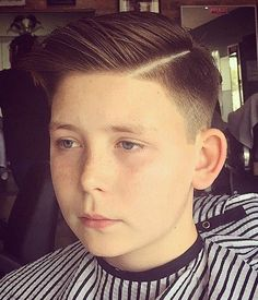 Trendy Boys' Haircut 9 Year Old With A Side Part                                                                                                                                                      More