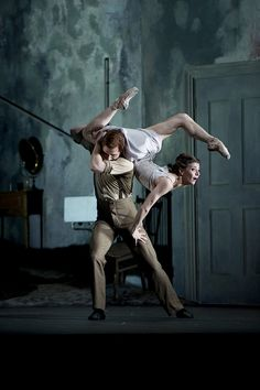 Johan Kobborg as Walter Sickert, Alina Cojocaru as Mary-Jane Kelly in Sweet Violets. Royal Opera House, Covent Garden.