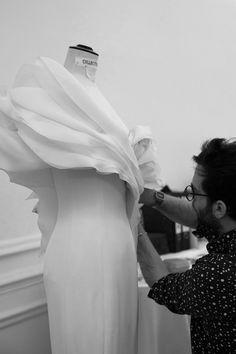Fashion Atelier - haute couture fashion behind the scenes; dressmaking; fashion studio // Ralph & Russo