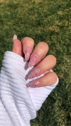 nails with stars on them * nails with stars . nails with stars design . nails with stars and moon . nails with stars acrylic . nails with stars sparkle . nails with stars on them . nails with stars design acrylic Aycrlic Nails, Star Nails, Hair And Nails, Coffin Nails, Star Nail Art, Perfect Nails, Gorgeous Nails, Amazing Nails, Nagel Tattoo