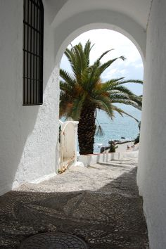 Nerja, Spain, the only glimpse of sunlight of the week! Nerja Spain, Places To Travel, Places To Go, Spain Culture, Iberian Peninsula, Spain Holidays, Door Steps, Alleyway, Balearic Islands