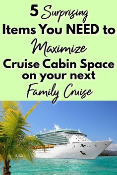 Family cruises are amazing, but they can get cramped if you're not prepared! These 5 items are surprisingly simple, but can save you LOTS of space, trouble, and frustration with your family on your next cruise! Packing List For Cruise, Cruise Tips, Cruise Vacation, Vacation Trips, Travel Couple, Family Travel, Alaskan Cruise, Cruise Destinations, Cruise Outfits