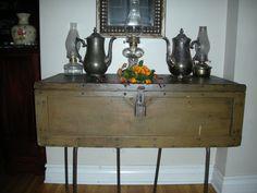 Antique Carpenters Chest Table. $299.00, via Etsy.