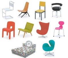 Reac Dollhouse Miniature Designer Chair Collection Vol 5 Reac