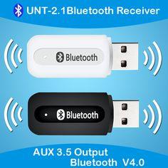 Mini Adaptateur sans Fil pour Le Streaming Maison//Mains Libres Kit Auto Voiture avec Sortie St/ér/éo 3.5 mm, Microphone int/égr/é, TF//SD Card Slot,8 Heures de Streaming R/écepteur Bluetooth 4.1 Audio